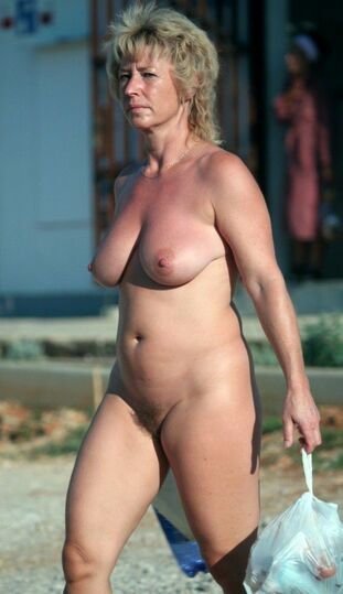 Femmes nudists and nude gals in public places, they are..
