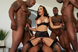 Bi-racial gang-fucked big-titted Cougar from EvilAngel