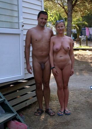 of naturist couples on the beaches